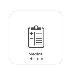 Medical history and medical services icon vector