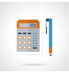 Mathematics flat color icon vector