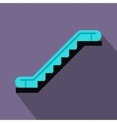 Escalator flat icon vector