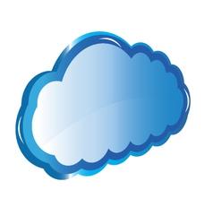 Web cloud storage vector