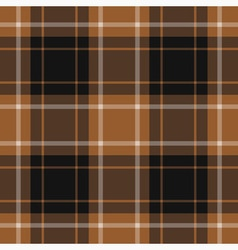 Seamless tartan - brown black and white vector