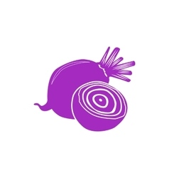 Beet icon simple style vector