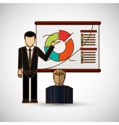 Business people icon design vector image