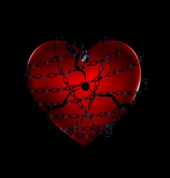 Dark chain and broken heart vector