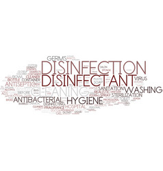 Disinfectant word cloud concept vector