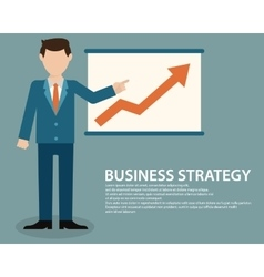 Flat design concept of businessman presenting vector image vector image