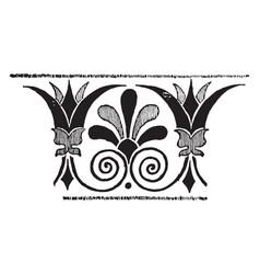 Greek band design is a decorative border vector
