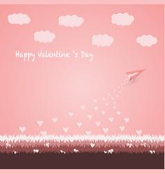 happy valentine s day concept vector image