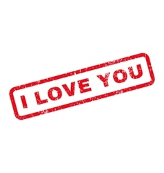 I love you text rubber stamp vector
