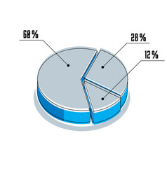 Infographic element percent segments circle 3d vector