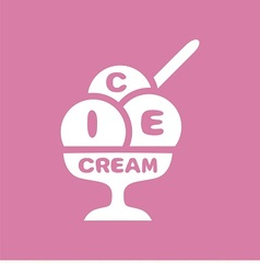 Logo ice-cream vector