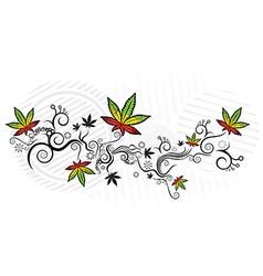marijuana cannabis leaf jamaican style texture vector image vector image