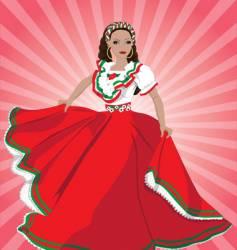 mexican dancer vector image vector image