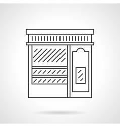 Pastry shop facade flat line icon vector