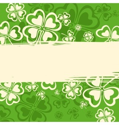 Patricks day grunge pattern vector image vector image