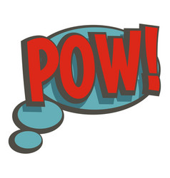 Pow speech bubble icon isolated vector