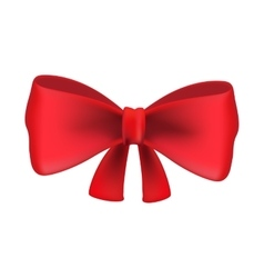 Red bow tie isolated on white background vector image vector image