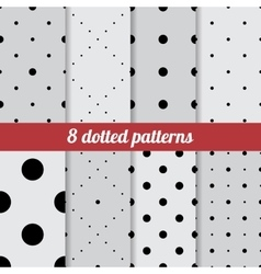Set of dotted patterns vector image vector image