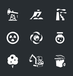 set of enviroment protection icons vector image vector image