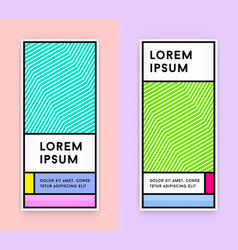 Set of visual identity in trendy new fat line vector