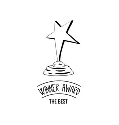 star award icon isolated on white vector image vector image