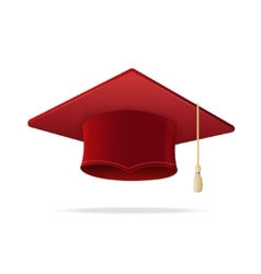 Student Hat Red Graduated vector image