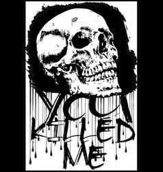 t-shirt graphicsskull printskull evil vector image vector image