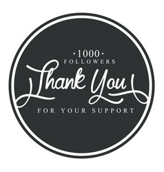 Thank you for your support round label vector