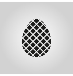 The egg icon Easter symbol vector image