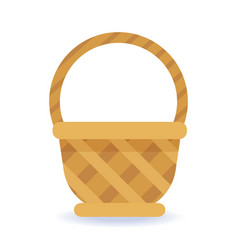 whickered basket on a white background vector image