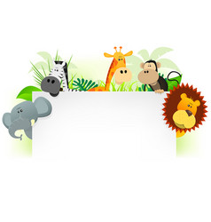 wild animals letterhead background vector image