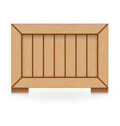 Wood crate vector