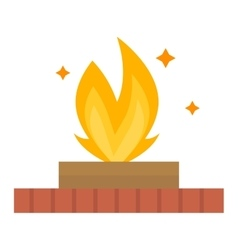 Fire flame isolated vector