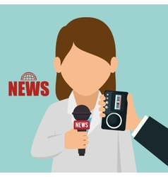 character interview news graphic vector image
