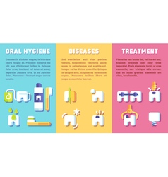 Set of banners with dental information vector