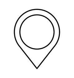 Pin pointer location flat icon vector