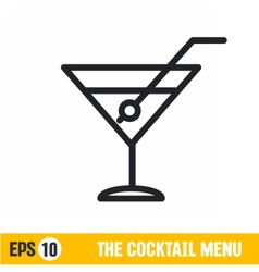 line icon coctail vector image
