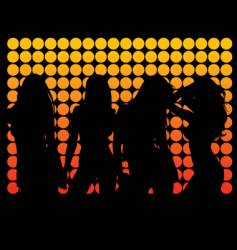 Dance silhouettes vector