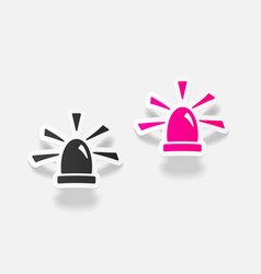 realistic design element flasher vector image