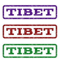 Tibet watermark stamp vector