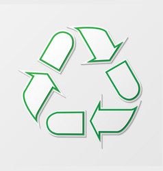 Recycling arrows symbol vector