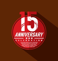 15 years anniversary celebration design vector