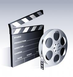 movie symbols vector image