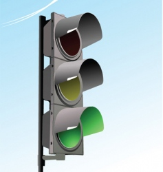 traffic light in sky background vector image