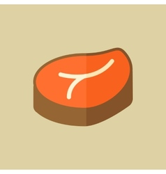Meat Food Flat Icon vector image