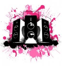 Grunge speaker vector