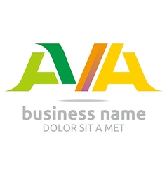 Logo letter av combination a lettemark design vector