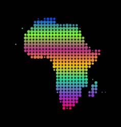 Map of africa vector