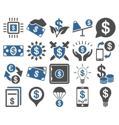 Dollar Icons vector image