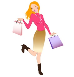 Happy shopper vector